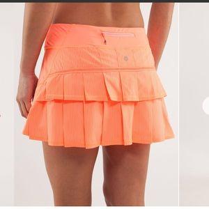 Lululemon Pace Setter Skirt Pop Orange size 4